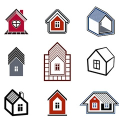 Houses abstract icons vector image