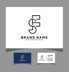 Initials pnp logo with a business card vector