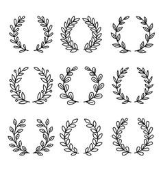 Laurel wreath award icons vector