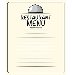 Line paper design with restaurant vector