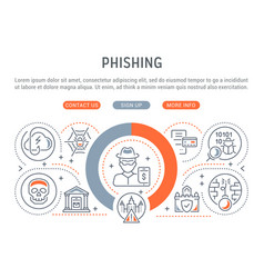 linear phishing vector image