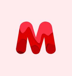 M blood font template design vector