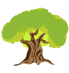 Made someone look fat tree on white vector