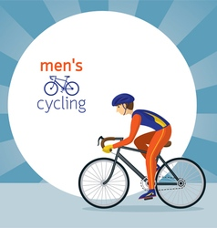 Man in Protective Sportswear Cycling Road Bicycle vector image