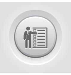 Management Icon Grey Button Design vector