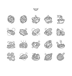 mexican food well-crafted pixel perfect vector image