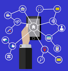 mobile phone applications and internet vector image