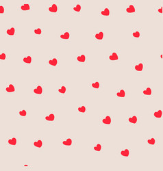 modern abstract heart red seamless pattern on vector image