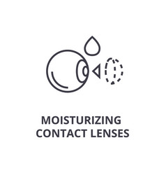 moisturizing contact lenses thin line icon sign vector image