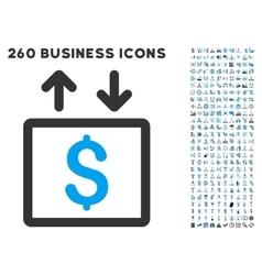 Money Elevator Icon with Flat Set vector image