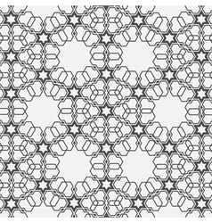 Monochromatic pattern on Islamic motif vector image