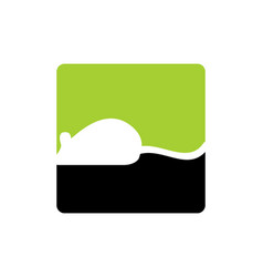 Mouse animal logo icon design vector