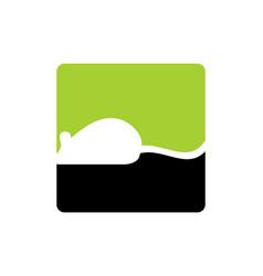 mouse animal logo icon design vector image
