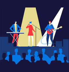 music festival - flat design style colorful vector image