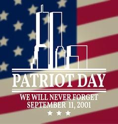 Patriot day vintage design vector