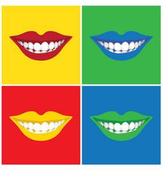 Pop art mouth vector image
