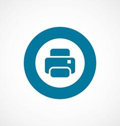 printer bold blue border circle icon vector image