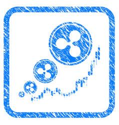 ripple inflation chart framed stamp vector image