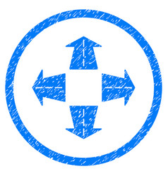 Road directions rounded grainy icon vector
