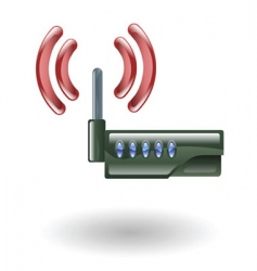 Router illustration vector