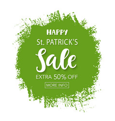 saint patricks day sale typography banner template vector image