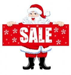 Santa and Christmas sale vector
