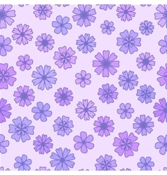 Seamless flat violet Flower Background vector image