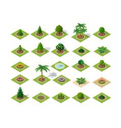 set of design elements isometric vector image