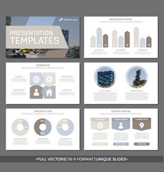 Set of gray and brown elements for multipurpose vector