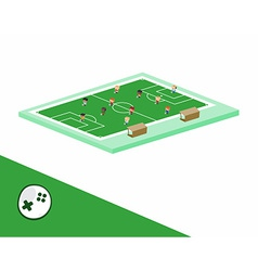 Soccer block isometric cartoon character vector