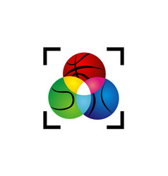 sport ball precision vector image