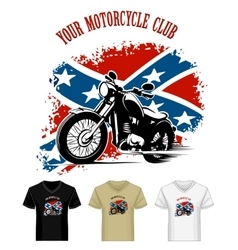 Template with Bikers Emblem vector