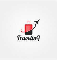 Travel agency icon templatecreative logo design vector