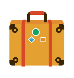 travel suitcase symbol vector image