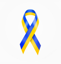 ukraine colors wave ribbon blue and yellow srip vector image