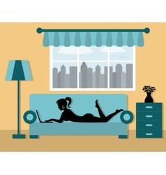 vacation at home vector image