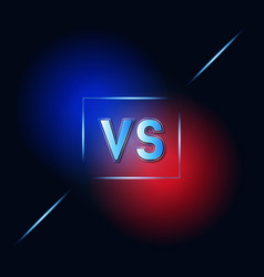 Vs dark blue and red background vector