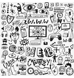 web doodles set vector image