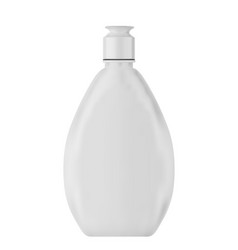 white plastic bottle with cap shampoo shower vector image