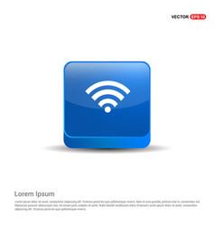 wifi icon - 3d blue button vector image