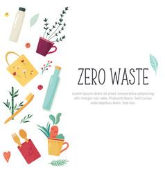 Zero waste concept design with elements vector