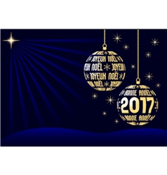 french christmas and new year 2017 background vector image vector image