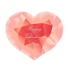 Pastel Pink Origami Heart vector image vector image