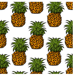 pineapple palm pattern vector image vector image
