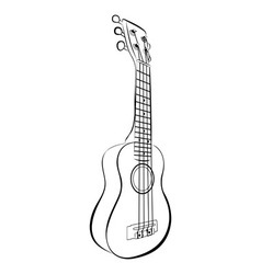 Ukulele guitar cartoon vector image