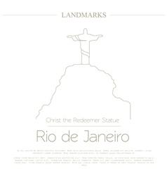 World landmarks Rio de Janeiro Brazil Christ the vector image