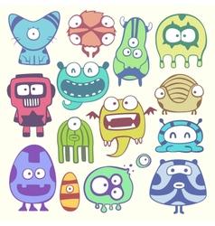 cartoon monstters vector image