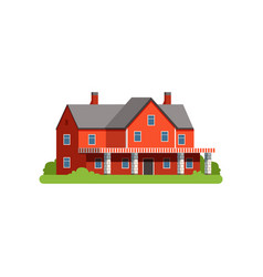 farm house countryside life object vector image