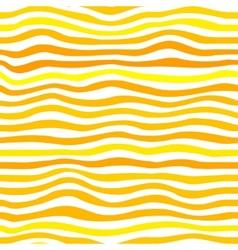 Orange waves simple seamless pattern vector image