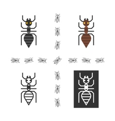 Black ant flat element vector image vector image